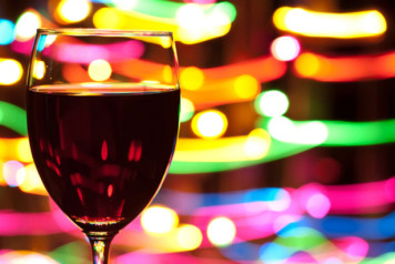 Festive Wine Glass