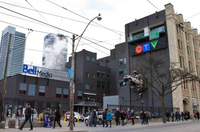 The MuchMusic building (now Bell Media) is one of the most recognizable spots in the city, thanks to the iconic facade and the crashed car installation on the side.