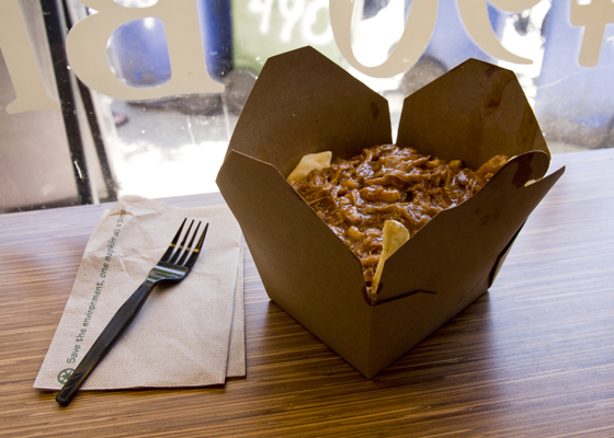 The pulled pork poutine.