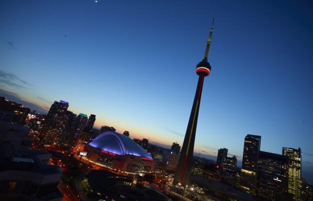 CN Tower dusk