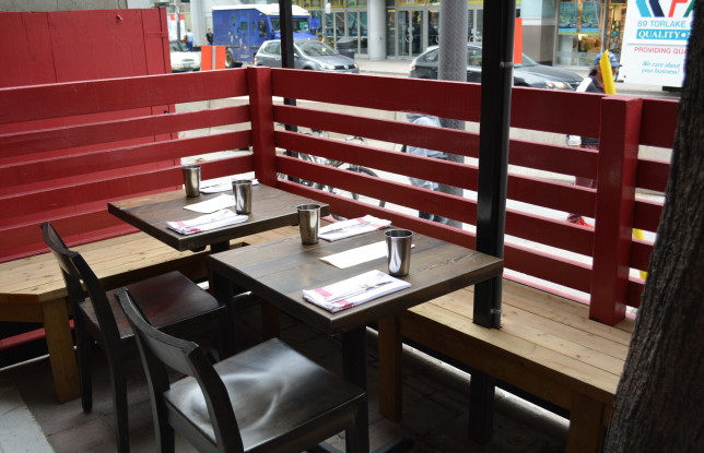 The patio at Thoroughbred. Photo by Jennifer D'Agostino