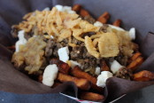 The Lumberjack Poutine from NomNomNom Crepes. Photo by Jim Bamboulis