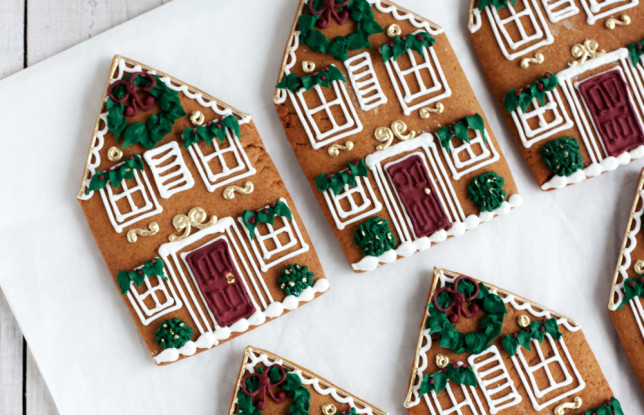 Bobbette and Belle Gingerbread House Cookies