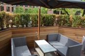 Kasa Moto patio. Photo by Jennifer D'Agostino